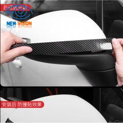 Parte do espelho do carro de fita de proteção anti-riscos em filme negro de carbono
