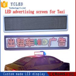 P6 LED Carte d'affichage de l'écran électronique de taxi pour taxi, le programme de publicité, a entraîné le déplacement du panneau de signer