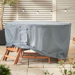 Resistente al agua de la Ronda Patio cubiertas de muebles de jardín silla de mesa