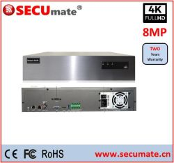 4K 8MP 36CH H.265 スタンドアロン NVR 8xsata RAID NVR