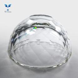 샹들리에용 투명 보울 모양 크리스탈 유리 펜던트 램프 액세서리