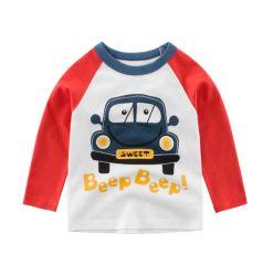 Vestuário para crianças de algodão barato impresso camisa de manga longa para criança Menino unissexo meninas suéter roupas