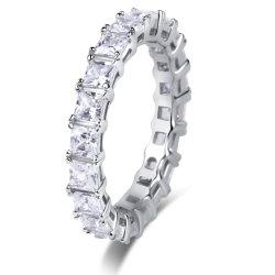 Juwelen 925 van de manier de Echte Zilveren multi-Stenen Ring van de Luxe van het Inlegsel