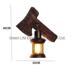 La retro lampada da parete di legno di colore della pittura del metallo della singola annata industriale capa per il corridoio domestico decora l'indicatore luminoso della parete