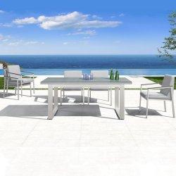 余暇の庭は屋外デザインをレストランのための椅子が付いている家具を食事する7部分セットする