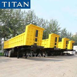2/3/4/5 Achsen 35 Cubic Meter 40/60/80/100 Tonnen Hydraulisches Kippen Hinten End Rock Sinotruk Bergbau Dumper Dump Kipper Semi Trailer für Verkaufspreis