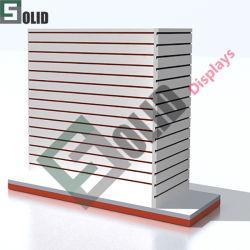 Ladenausstattung Freistehende Boden Slatwall Display für Shop Holz MDF Gondel Slatwall Display Ständer/Befestigungen/Rack/Ladeneinrichtungen/Lagereinrichtung