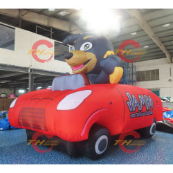 3m lange opblaasbare cartoon rijdende auto