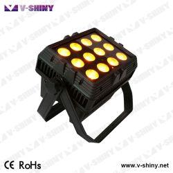 Rgbwauv 6en1 Batterie sans fil exploité DJ d'inondation de lumière LED étanche