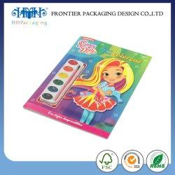 Niño chino de impresión de cómic de los niños Coloring Book
