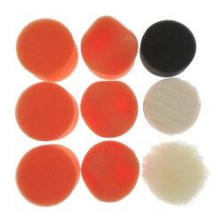 2 pulgadas de 9 piezas/Set compuesto de esponja juegos de limpieza Kit de lavado de perforación Buffing Pad Car Auto pulido