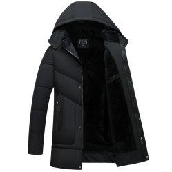 人ポリエステルパッファーのウールPURのフードが付いている綿によってパッドを入れられるジャケットの冬の厚いコートの長く屋外のジャケットのコート