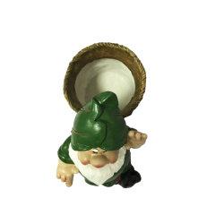 Mini dibujos animados estilo campo enano de jardín de sobremesa Polyresin Maceta de Bonsai Cactus suculentos regalo bricolaje decoración de escritorio
