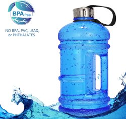 Jarra de agua 2L Botella de agua de deporte grande de plástico de gran capacidad de contenedores estancos