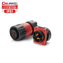 Connettore di Pin impermeabile di dc 3 di CA 500V del connettore di Cnlinko M20 per la batteria di Lipo