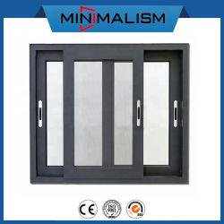Ventilations-reparierte schiebendes Metallfenster-/-fiberglas-/Fliegen--bildschirm-Aluminiumplättchen Windows/Glas mit Moskito-Netz