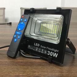 30W/50W/80W/100W Controle Remoto Painel Solar IP67 para Park Road Street Holofote LED da lâmpada