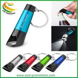주문 로고에 의하여 인쇄된 쉬운 승진 선물을%s 열쇠 고리를 가진 소형 병따개 LED 토치를 전송한다