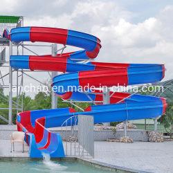 Стекловолоконные открыть спираль слайд для развлечений на открытом воздухе аква-парк водных