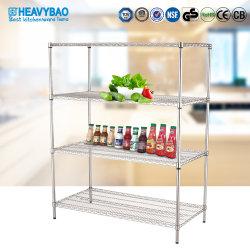 Heavybao新しい項目台所記憶はオルガナイザーの食糧鍋鍋の調理器具の食料貯蔵室ワイヤーラックを悩ます