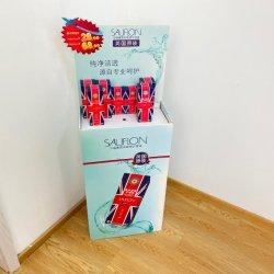 El PDQ contiene un aceite esencial personalizada Pantalla del contador de cartón para la venta de supermercados