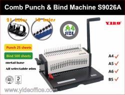 Aço tamanho A4 Pente livro obrigatório Encadernação da Máquina de perfuração (S9026A)