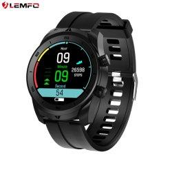 Lemfo DT79 1.3 дюймов фитнес-браслет 360X 360 резолюции ЭКГ Bpm Bp контроль вызовов Bluetooth Bt длительное время двойной часовой пояс IP67 водонепроницаемый Smartwatch