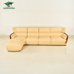 [فكتوري بريس] حقيقيّة جلد ركن أريكة محدّد تصاميم ركن خشبيّة أثاث لازم حديث