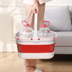 Boomjoy 쉬운 저장 가구 Multiuse Mop 청소를 위한 접히는 물 물통 휴대용 경편한 물통