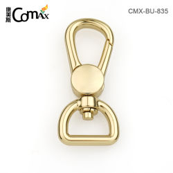 Le Clip à ressort de l'or en métal de gros chien Snap Crochet de chaîne de clés et sac à main