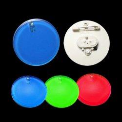 LEDはロゴの印刷のバッジとのPromotion&Eventのためのボタンによって曇らされる円5cmをつける