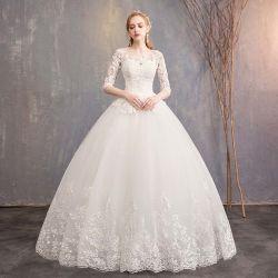 Hwd041 Новое платье с одной линией на плече простое кружевное платье с коротким рукавом Свадебное платье