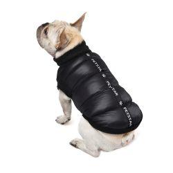 Letter Reflective Fashion Pet Jacket Winter WARM WARM ضد الرياح الكلب المريح معطف