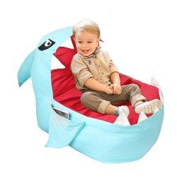 귀여운 상어 콩 부대 의자 덮개 아이는, 연약한 화포 박제 동물 저장 자루에 넣는다 아이 침실, 조직자 견면 벨벳 장난감, 수건 & 옷 (채우기)를