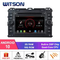 Четырехъядерные процессоры Witson Android 10 DVD плеер для Toyota Прадо 120 2g 16 ГБ ОЗУ ПЗУ