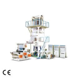 대만 품질 고속 HDPE LDPE PE Poly 플라스틱 Pbat PLA 생분해성 이중 스크류 공동 압출 3중 레이어 블로잉 ABA 필름 블로잉 및 압출기 기계 만들기