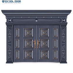 Staal van de Ingang van de Villa van de luxe de het niet Standaard/Deur van het Ijzer met Driedimensionele Gravure