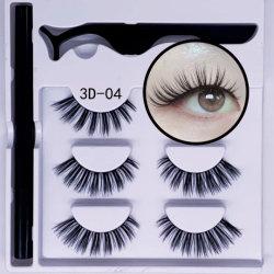 2020 새로운 접착제 Eyeliner 가짜 속눈썹 자석 채찍질 클립 컬러 자석 속눈섭 세트 없음