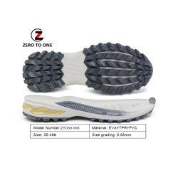 Heißer Verkauf Custom strapazierfähig für Sport Schuh Herstellung Outsole Laufschuhe elastische EVA TPR PVC Sohle