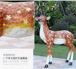 Jardin extérieur de la sculpture en résine Sculptures animales célèbre modèle personnalisé de la taille de la vie de la résine de figurine Fawn Animal de jardin