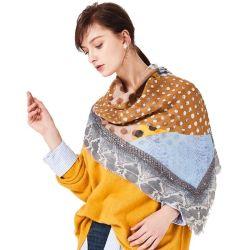 De Afgedrukte Sjaal van de Winter van de douane Wool+Cashmere