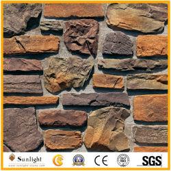 Los paneles de pared de piedra decorativa de la moda de la cultura al por mayor de piedra amarilla