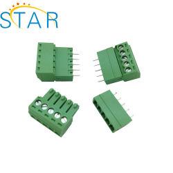 Morsettiera a vite a innesto da 2,54 mm, montaggio a pannello su circuito stampato DT
