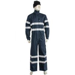 Fashion de tecido de algodão vestuário de trabalho e retardante de incêndio fato-macaco antiestático satisfazer a norma EN