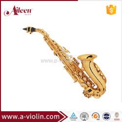 Oro profesional Laquer saxofón soprano chino