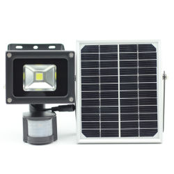 10W/20W à l'extérieur Jardin LED solaire projecteurs avec détecteur de mouvement
