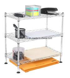Niveau mini 3 DIY Fil Métallique Rack de stockage sur étagères Table Office de l'organiseur