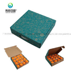 Los envases de frutas personalizado de impresión de papel caja de cartón corrugado