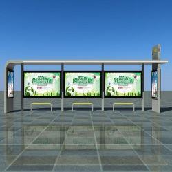 최신 스테인리스 스틸 버스 정류장 보호소 디자인 사용자 지정