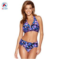 Nuovo bikini sexy Halterneck all'ingrosso della stampa floreale di stile